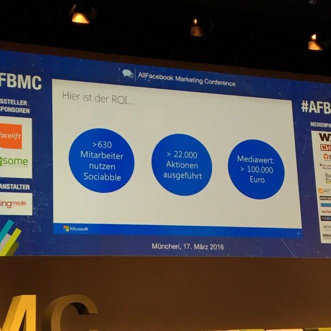 Allfacebook Marketing Conference 2016: Tobis Röver von Microsoft Germany zum Thema Employee Advocacy (C) Scott Davidson