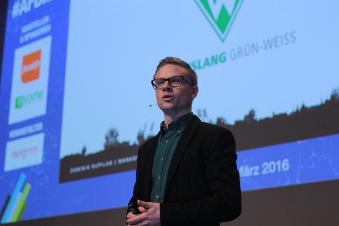 Dominik Kupilas, Social Media Manager beim Fussball-Bundesligisten Werder Bremen. (C) Scott Davidson