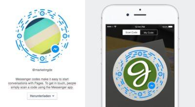 So gehts: Messenger Code für Facebook Pages nutzen