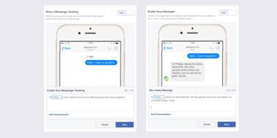 Jetzt online: Überarbeitete Nachrichten Optionen für Facebook Seiten