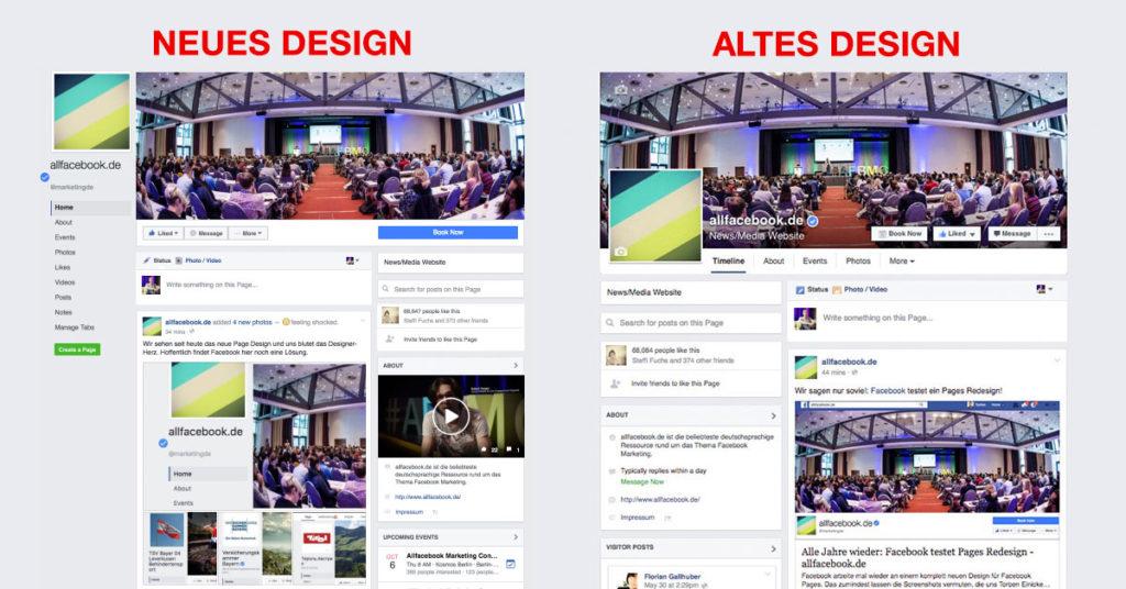 Das neue Facebook Seiten Design im Überblick