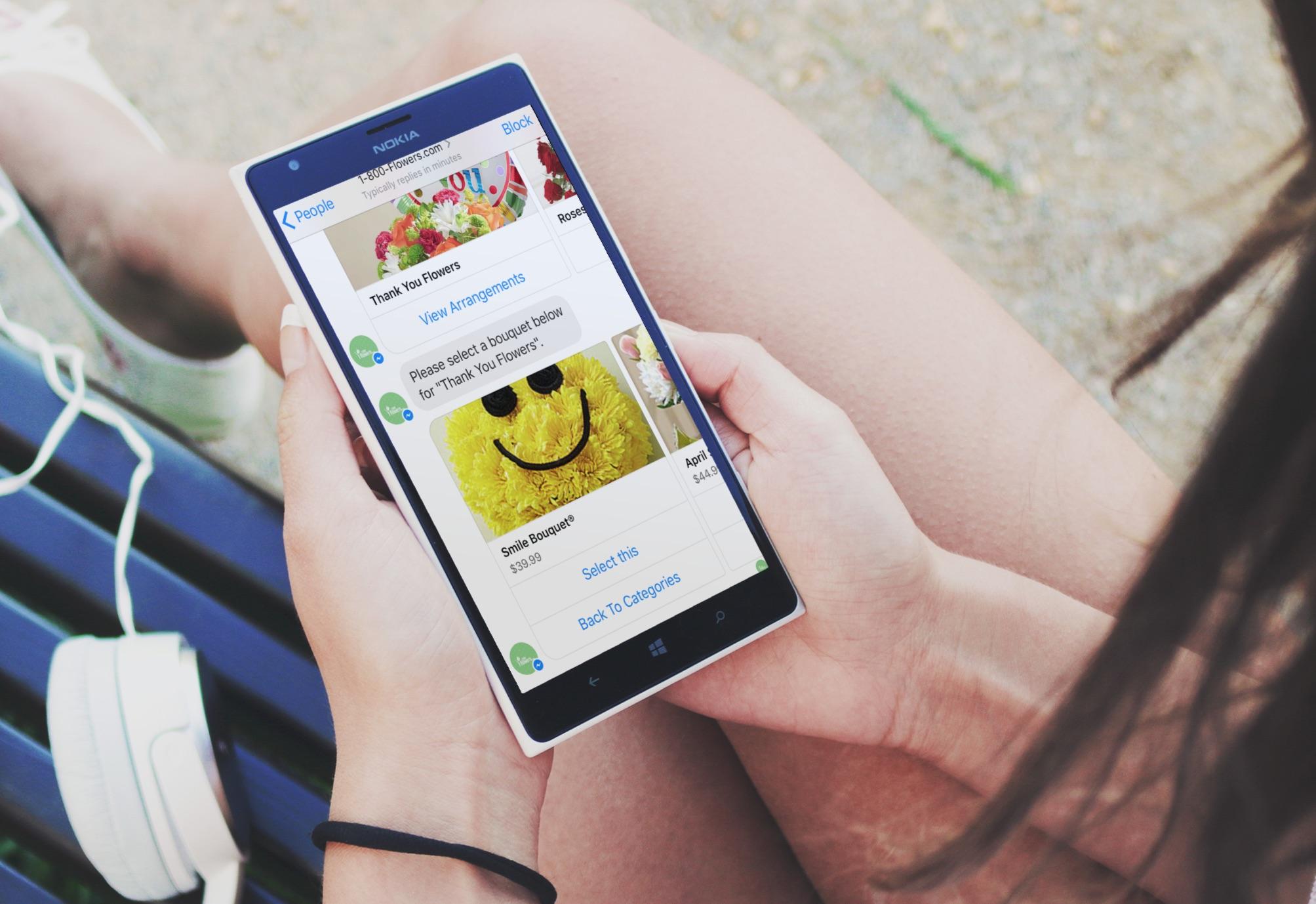 Facebook Messenger Bot von 1-800-Flowers