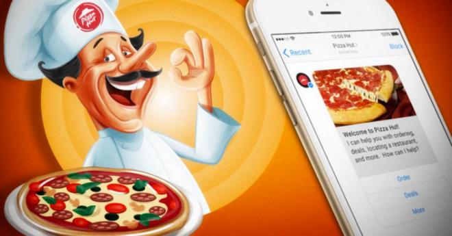 Pizza bestellen bei Pizza Hut mit einem Facebook Messenger Bot