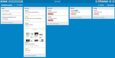 Facebook Redaktionsplan als kostenlose Trello Vorlage für KMUs