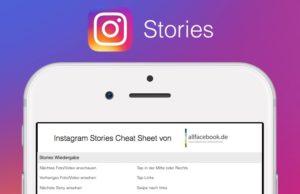 Instagram Stories Cheat Sheet