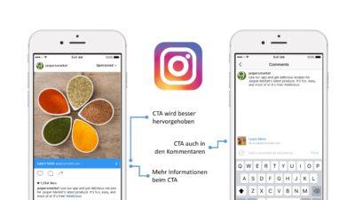Bis zu 45% mehr Performance: Instagram Ads mit neuen Call-to-Actions