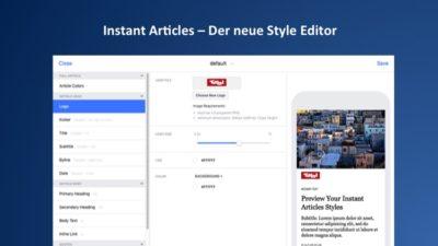 Neuer Instant Article Style Editor mit mehr Möglichkeiten und neuen Schriften