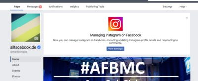 Instagram erlaubt bearbeiten von Profil Informationen über Facebook Seiteneinstellungen
