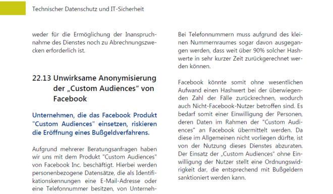 """Das bayerische Landesamt für Datenschutzaufsicht (BayLDA) weist in seinem Tätigkeitsbericht 2013/2014, S. 172 auf die Gefahr eines Bußgeldverfahrens beim Einsatz von """"Custom Analytics from Website"""" hin."""