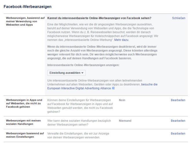 Opt-Out-Einstellungen von Facebook gewährleisten kein Opt-Out vom Tracking, sondern nur vom Targeting. Das genügt den Datenschützern nicht für einen wirksamen Widerruf.