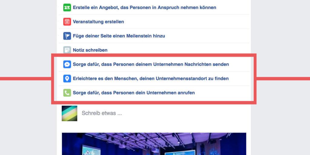 Call-To-Action Posts: viele neue personalisierte Beitragstypen für Facebook Seiten