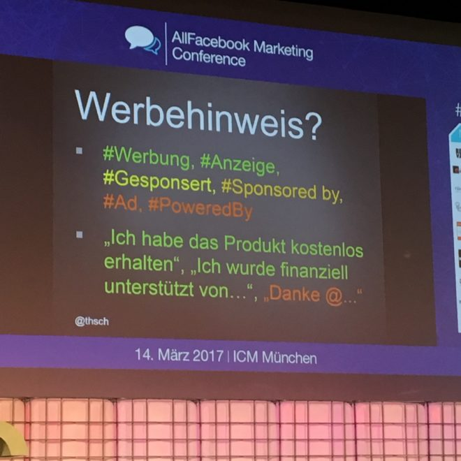 Allfacebook Marketing Conference 2017 in München #AFBMC #ThomasSchwenke