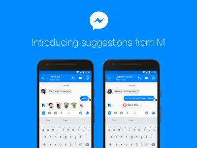 """Facebook launcht """"M"""" – Artificial Intelligence und Vorschläge im Facebook Messenger"""