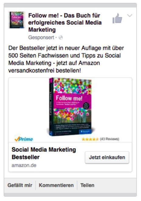 Werbeanzeigenbeispiel Link-Ad zur Bewerbung eines Produktes auf Amazon