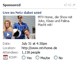 Facebook MTV Home Ad