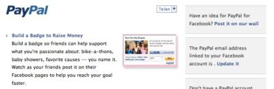 Geld einfordern mit facebook und PayPal