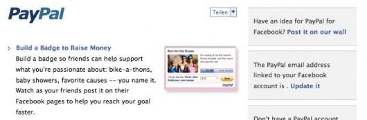 PayPal auf Facebook