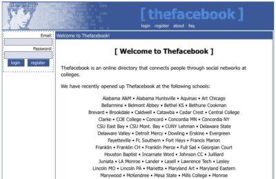 Die Anfänge von Facebook
