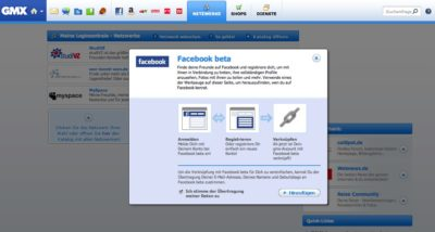 Web.de und GMX als erste europäische OpenID Partner von Facebook