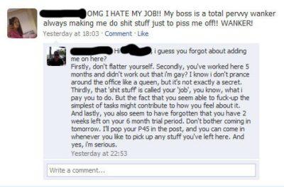 Jobs finden und verlieren über Facebook