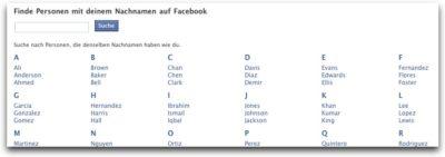 Wochenendbeschäftigung: Verwandte auf Facebook suchen