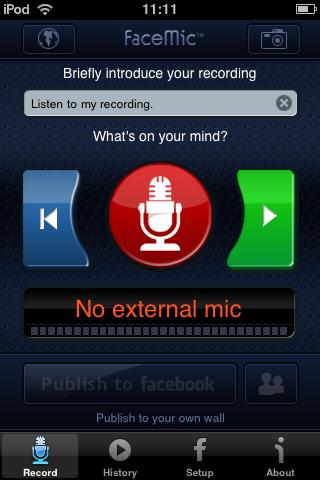 faceMic – Sprachnachrichten von iPhone zu Facebook