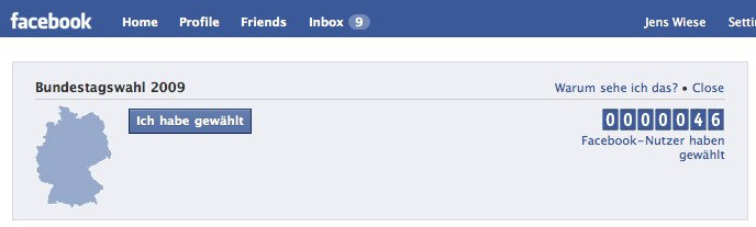 Facebook bittet zur Wahl