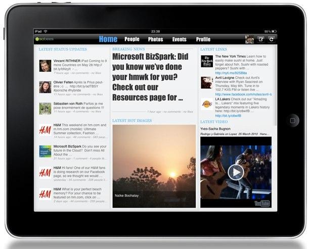 Die Facebook iPad App – kommt nicht von Facebook
