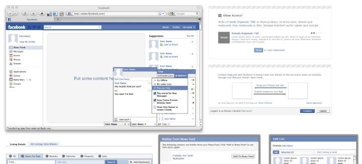 Facebook Anwendungen in Photoshop designen
