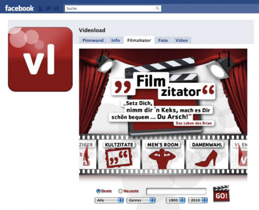 Videoload auf Facebook