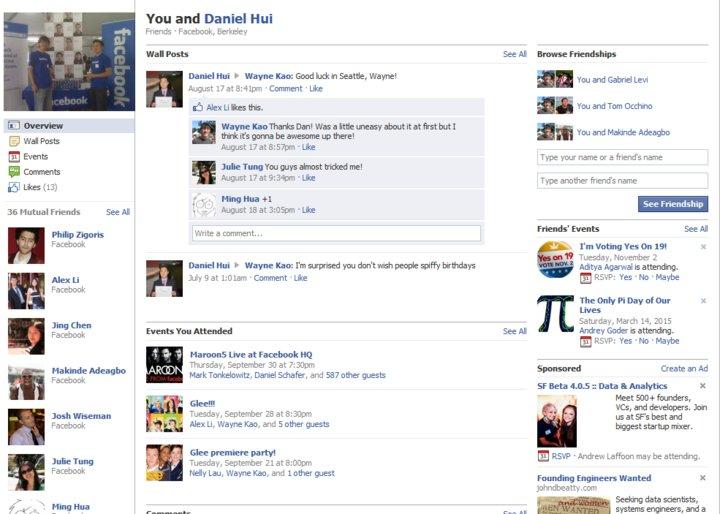 Neu: Facebook Friendship Pages