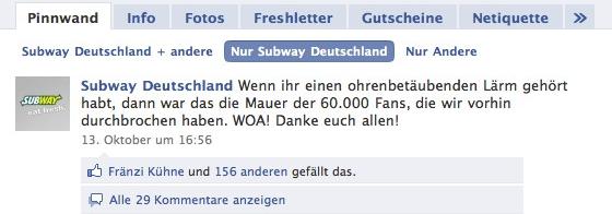 Interview: Wir haben SUBWAY Deutschland zu ihren Facebook Aktivitäten befragt