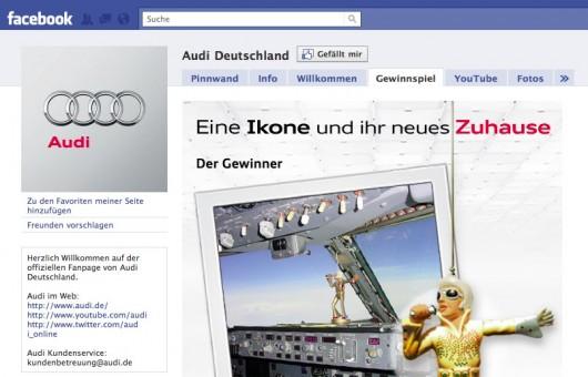 Audi Deutschland Kampagne auf Facebook
