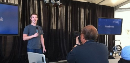 Zuckerberg beim web 2.0 Summit (Bildquelle: Mashable)