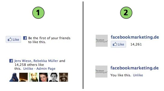 Howto: Minimale Like Box und Fanpage Like Button
