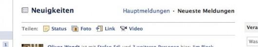 Neues Facebook Design: Publisher