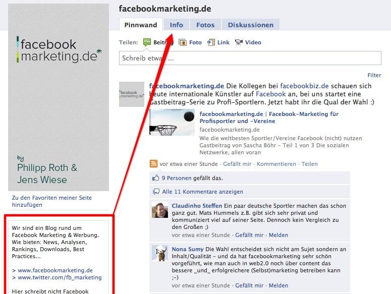 Neu: Die Infobox Inhalte sind nun auch im Infotab sichtbar, Freunde vorschlagen derzeit nicht mehr möglich