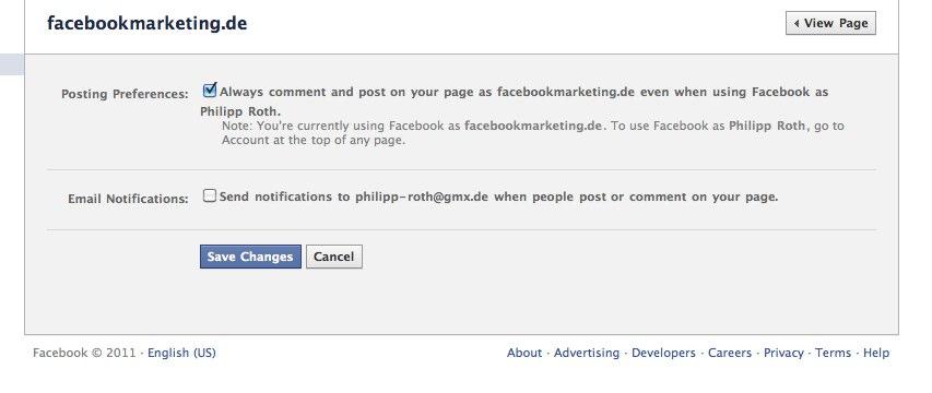 Neu: Facebook Pages Benachrichtungen nun per E-Mail möglich
