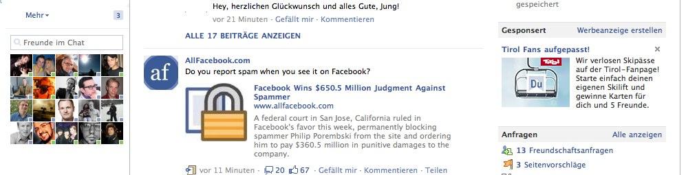 Facebook Anzeigen: Facebook hebt die Sperre auf, ab jetzt werden 'normale' Anzeigen auch auf der Startseite angezeigt