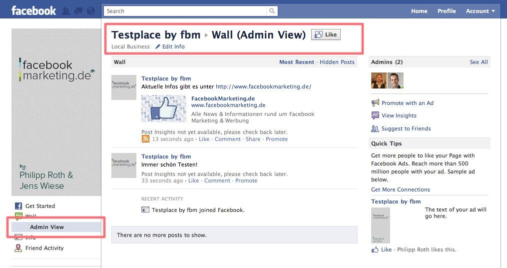 Facebook Places (& Pages) erhalten den Admin View für Spam & Bad-Word Filter Beiträge