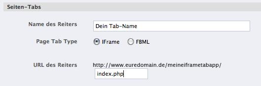 Facebook iFrames: Einführung der Tab-Apps als iFrame für Facebook-Seiten