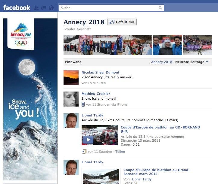 Olympia 2018 – Die Bewerber auf Facebook