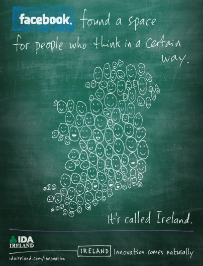Facebook found a space for people who think in a certain way. It's called Ireland.