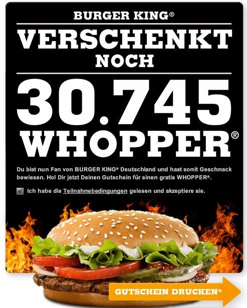 +20.000 Fans in 24 Stunden – Burger King verschenkt 50.000 Whopper