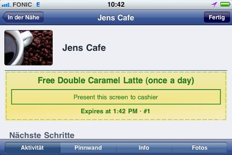 Und natürlich auch auf dem iPhone sichtbar, sonst wäre es ja sinnlos.