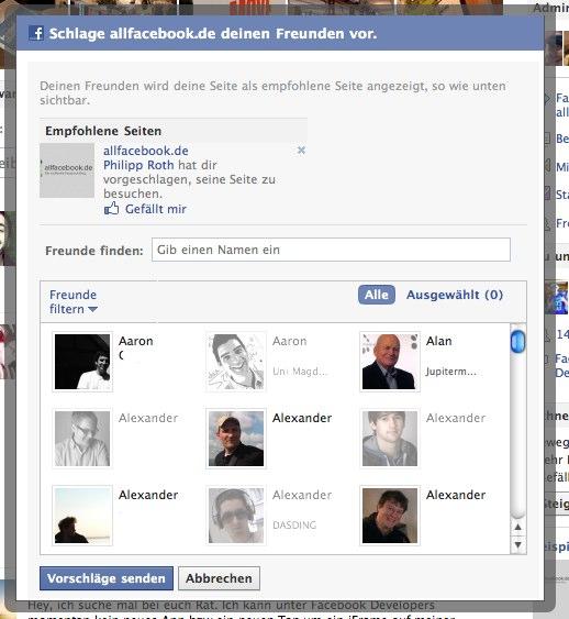 """Facebook überarbeitet die """"Freunden Vorschlagen"""" Funktion von Seiten"""
