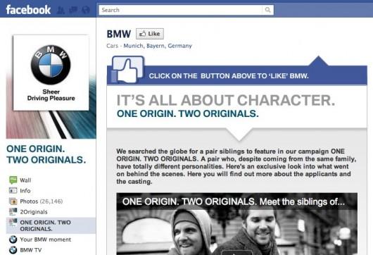 Screenshot BMW auf Facebook