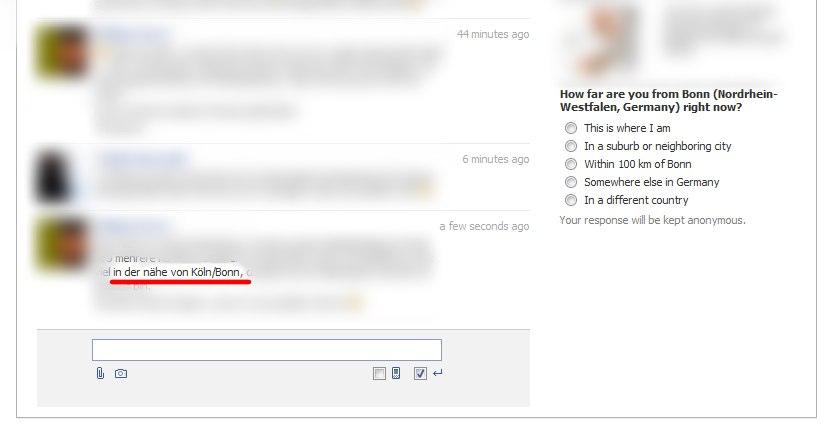 Wo bist du wirklich? Facebook will es jetzt wissen.