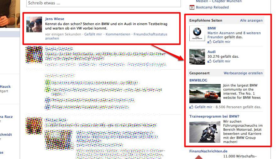 Anzeigen: Facebook führt die contextbasierte Werbung ein!