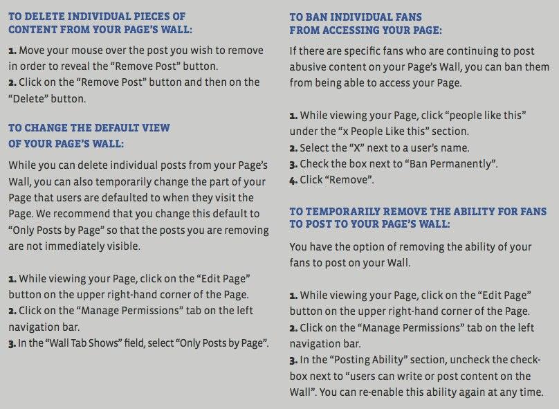 Offizielles Facebook Whitepaper: Social Media Crisis Response Guidelines